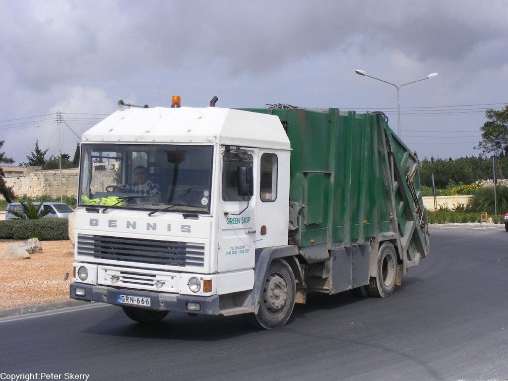 GRN666 1986 Dennis S Series Refuse Vehicle