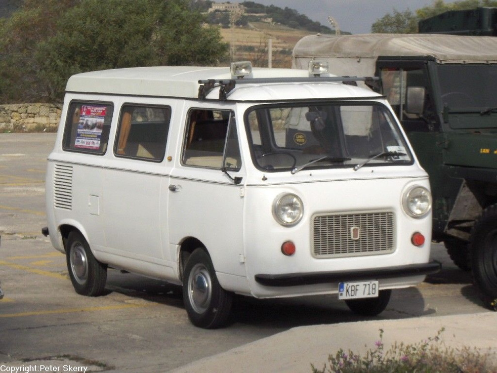 Kbf718 1974 Fiat 850t Camper Images Of Maltese Buses And