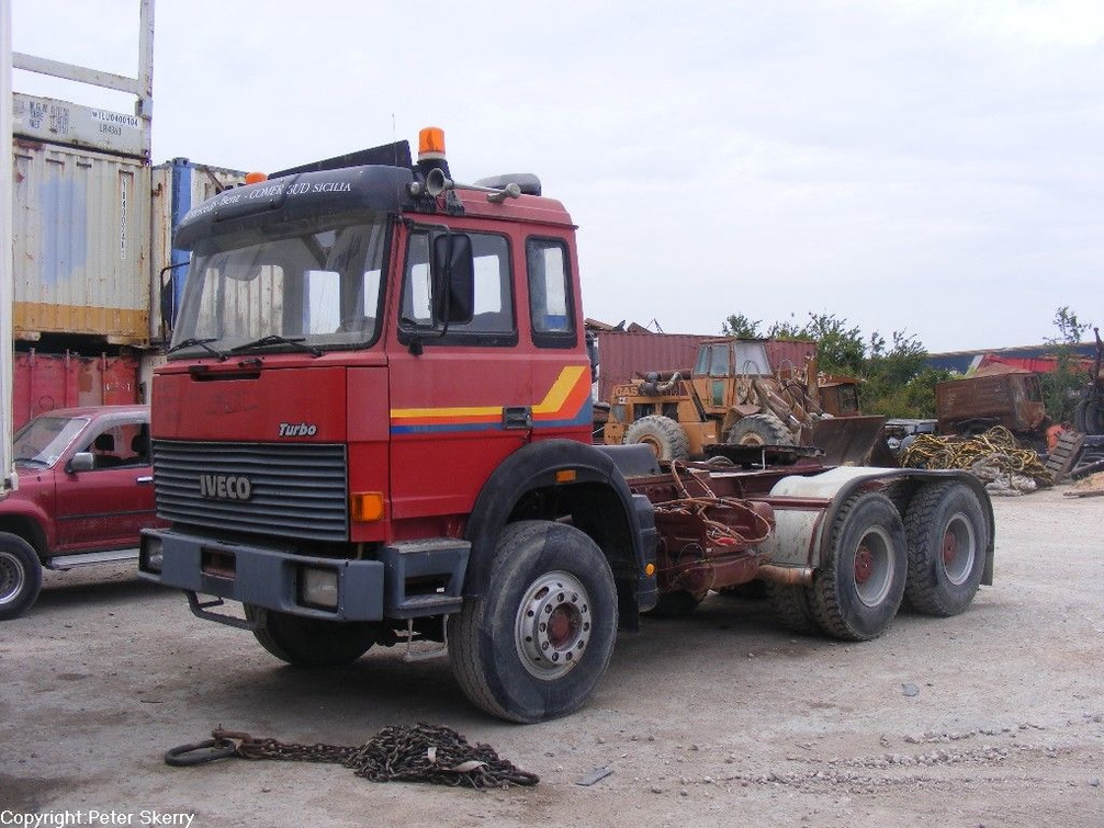 1985 Iveco Turbostar 6x4 Tractor Images Of Maltese Buses