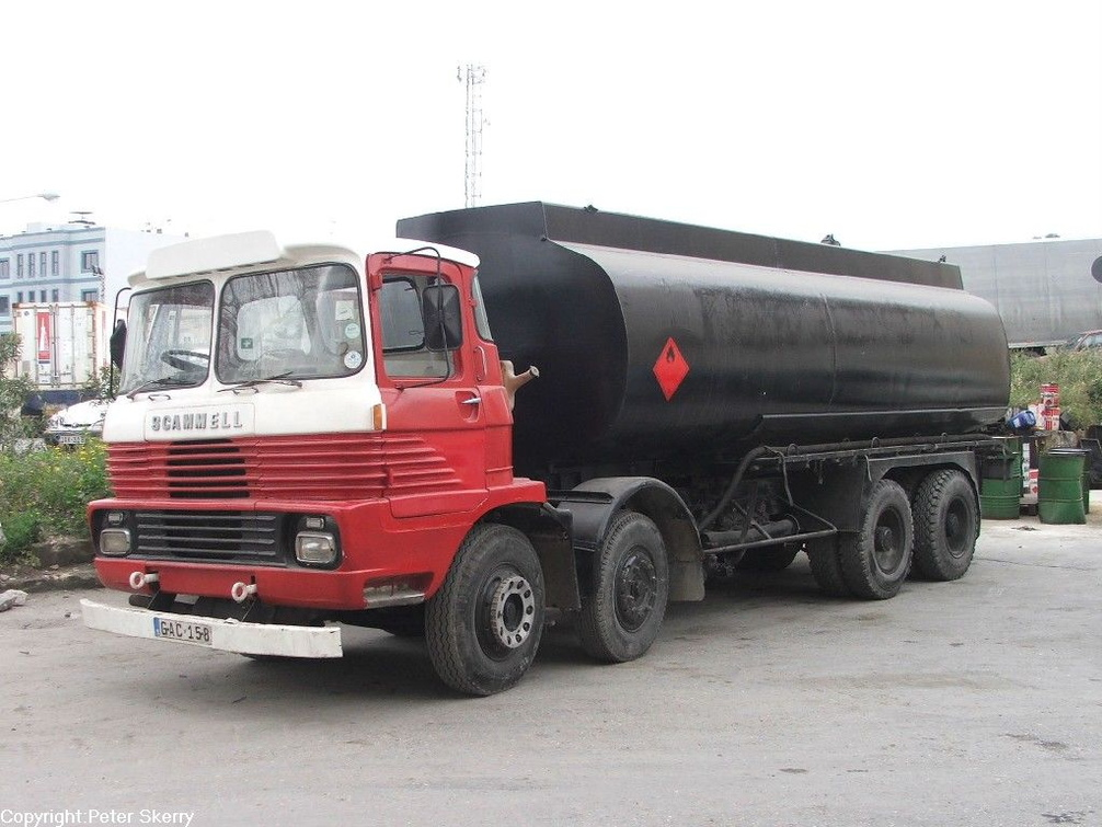 Gac158 1972 Scammell Routeman Ii 8x4 Fuel Tanker Images