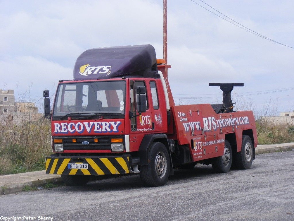 Rts012 1983 Ford Cargo 3224 6x2 Recovery Truck Images Of