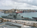 Canadian Destroyer HMCS Athabaskan DDH282 in Valletta  2006.