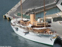 Danish Royal Yacht 'Dannebrog' built 1932 1238dwt. in Vallet