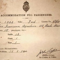 1928 Accommodation Form for Ford 1502