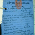 1931 licence for 14 seat Chevrolet 2220 - replaced by a new Ford in 1932