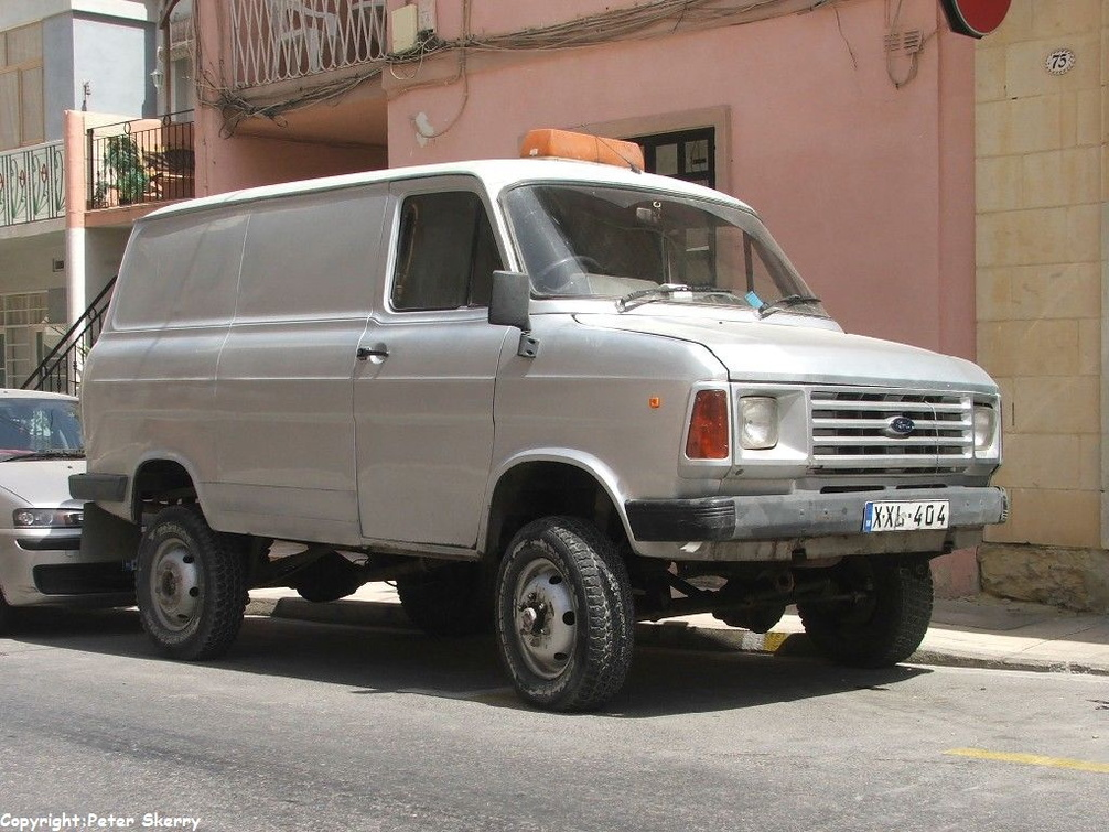 xxl504 1984 ford transit mk.2 4x4 van. | images of maltese buses and