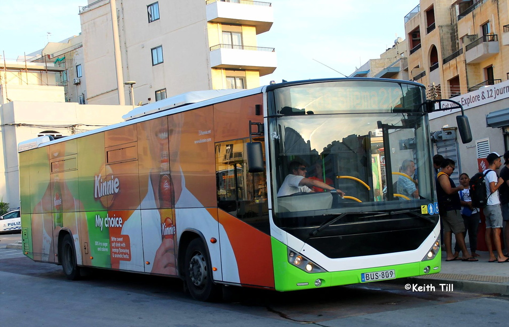 BUS 809 ad | Images of Maltese Buses and other forms of