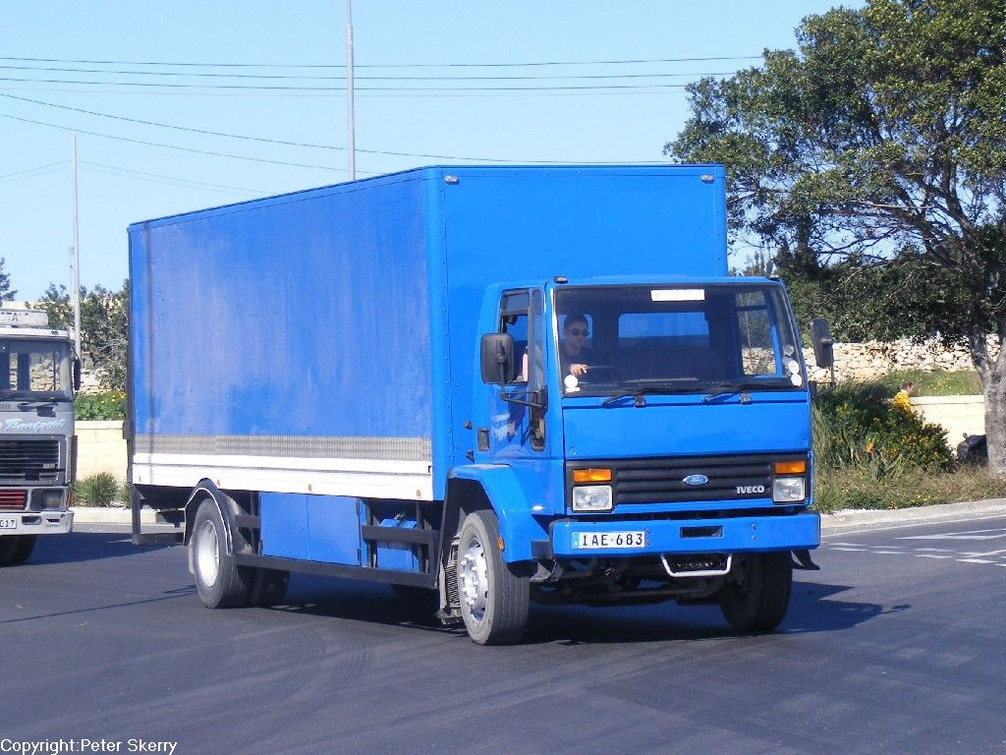IAE683 1994 Ford Iveco Cargo Box Van | Images of Maltese ...
