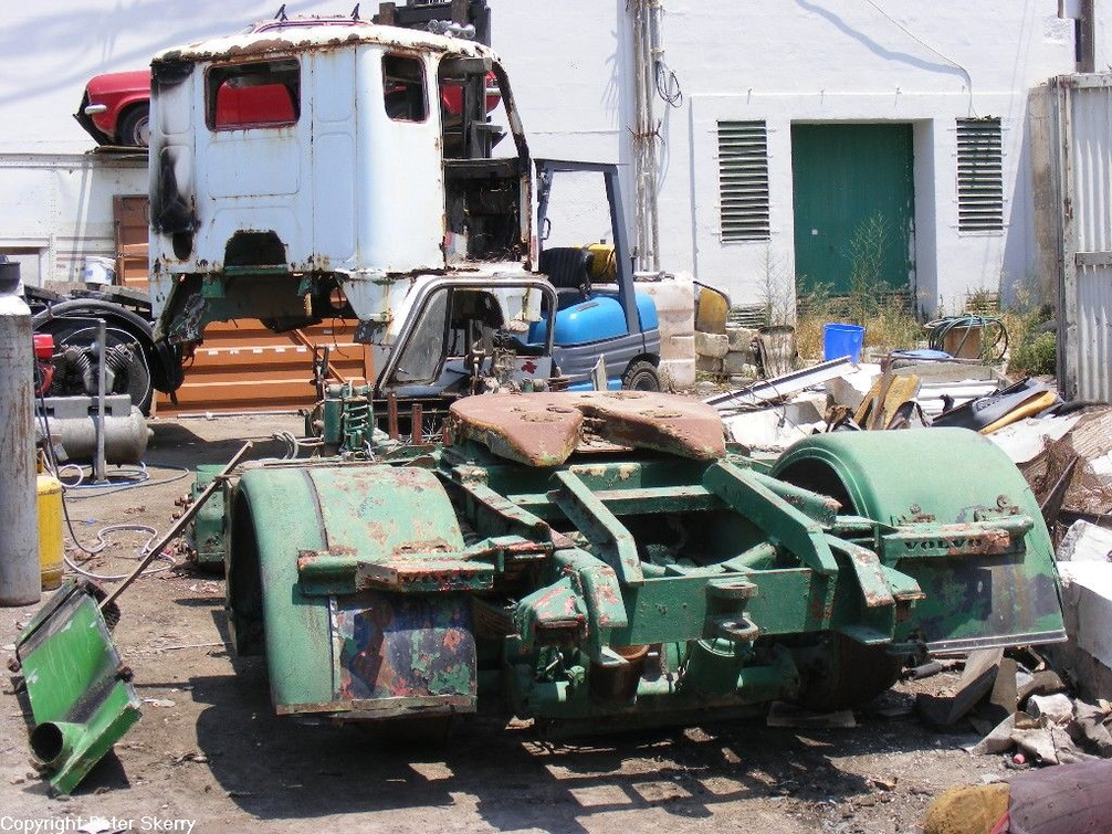 1969 Volvo F88 Tractor Being Broken For Parts Images Of