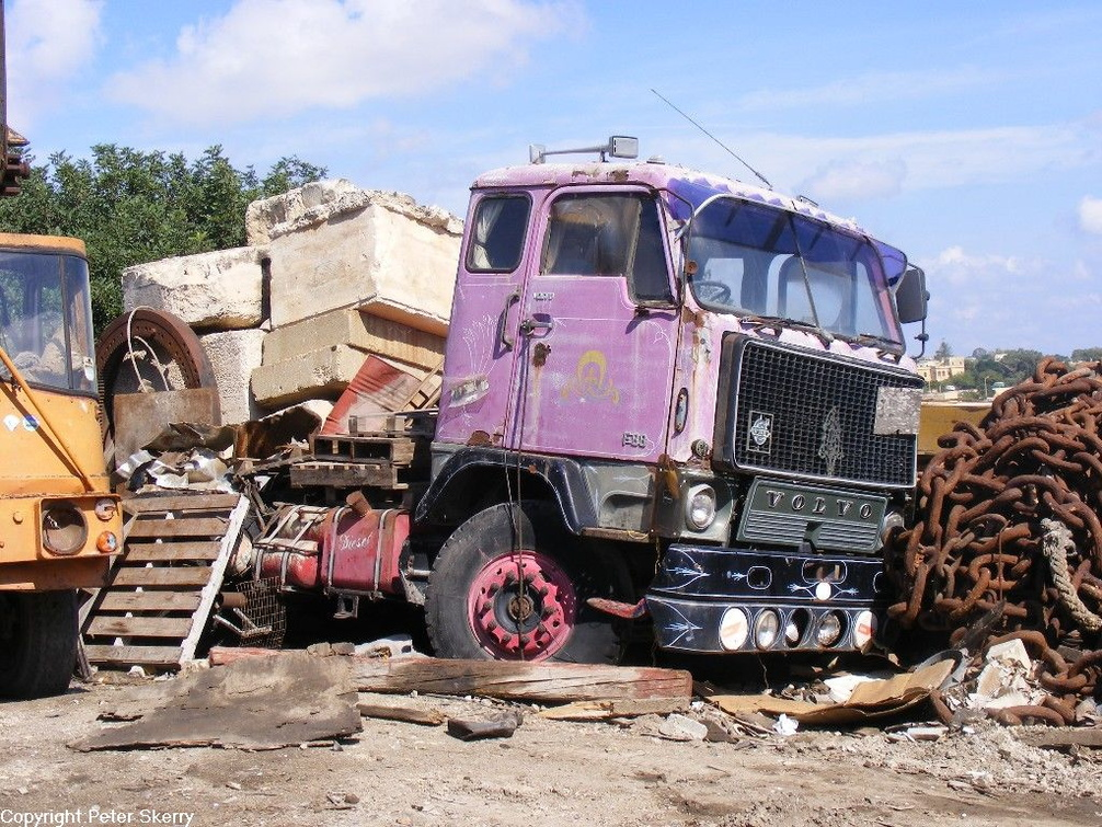 1972 Volvo F88 Tractor Unit Images Of Maltese Buses And