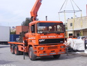 EHQ117 ERF 1995 EC10 Rigid with Hiab.
