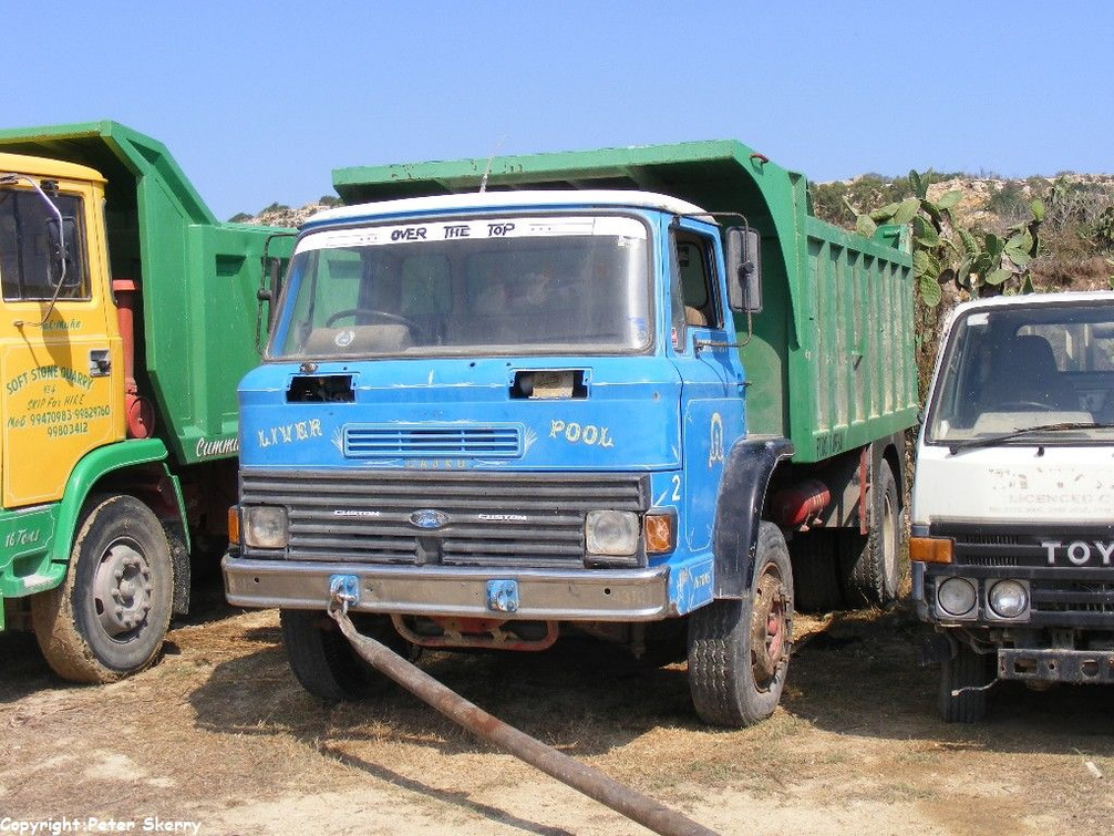 1982 Ford D Series Tipper Images Of Maltese Buses And