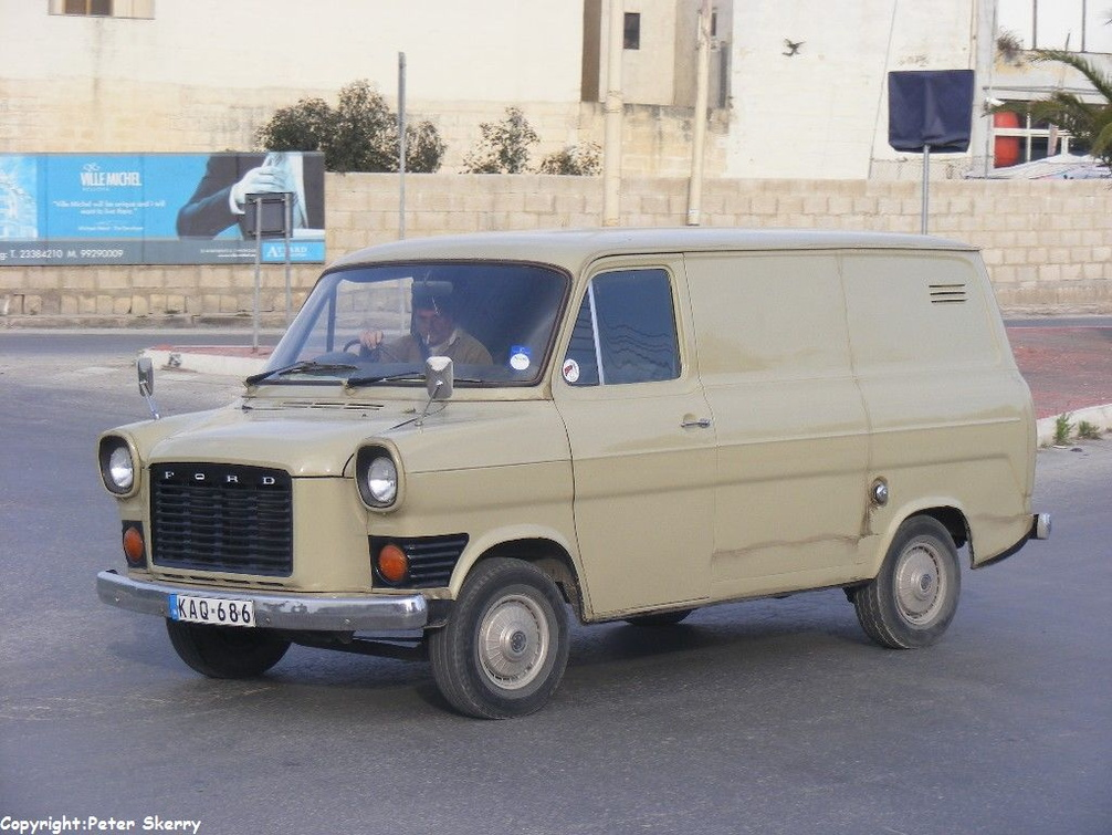 Kaq686 1978 Ford Transit Mk 1a Van Images Of Maltese