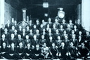 These are the faces of the MALTA RAILWAY. Railway staff pose for a photo at Hamrun Station in 1924. Can you recognize any of these men through old photos of great-grandfathers etc who worked for the Malta Railway. It would be intere