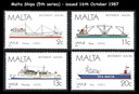 Malta Postage Stamps with a 'Transport' theme