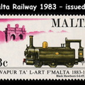 z Malta Railway Commemorative Stamps