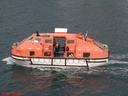 PRINSENDAM - offshore disembarking for Gozo visit - good lifeboat drill 02